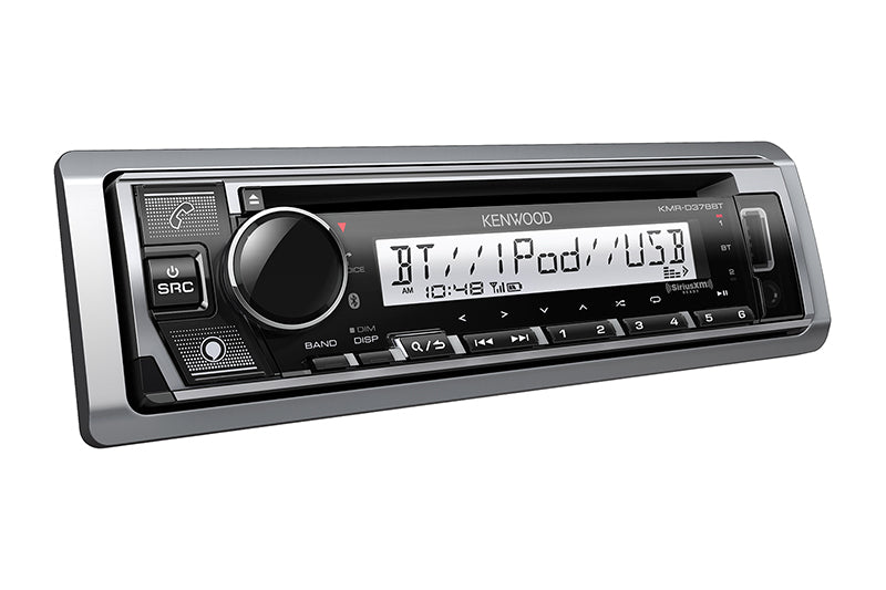 Kenwood KMR-D378BT Marine/Motorsports CD Receiver with Bluetooth - Lockdown Security