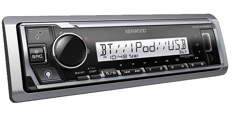 Kenwood KMR-M328BT Marine/Motorsports Digital Media Receiver with Bluetooth - Lockdown Security