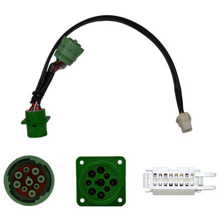 GEOTAB GREEN Type II Y-Harness, Oversized Flange 9-pin/OBDII - Lockdown Security