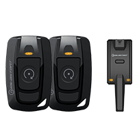 iDatastart RF2412A Single Button (2-Way) Key Fob Kit | 6000 Foot Range - Lockdown Security