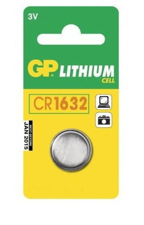 GP Batteries CR1632 3 Volt Battery (single) - Lockdown Security