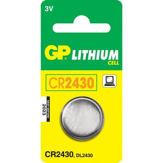 GP Batteries CR2430 3 Volt Battery (single) - Lockdown Security