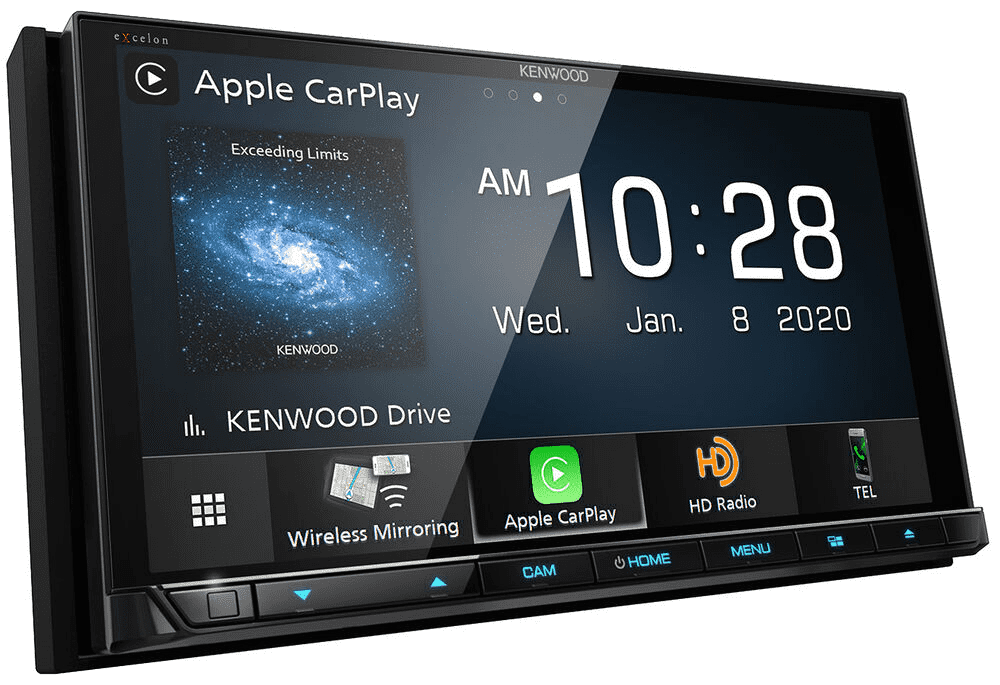 Kenwood Excelon DDX9907XR Multimedia Receiver with Apple CarPlay and Android Auto - Lockdown Security