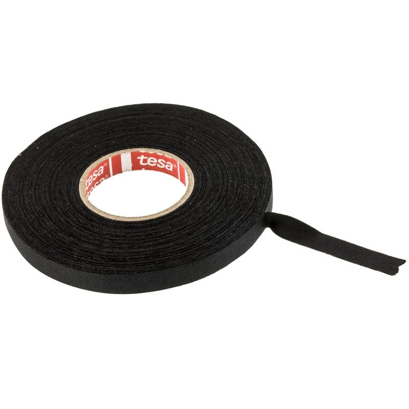 "Tesa 51026 PET Cloth Wire Harness Tape | Exterior Use | 3/8"" Width x 82 Foot Length - Lockdown Security"