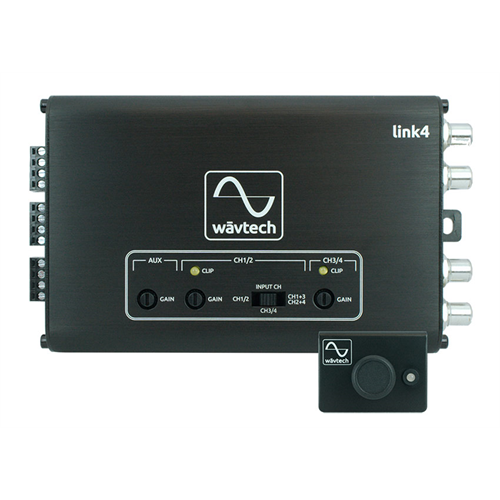 Wavtech LINK4 4 channel Line Output Converter | 4 Channel - Summing - AUX Input - Remote - Lockdown Security