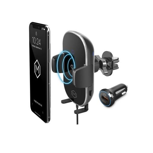 Mighty Mount M564DV Auto Grip Dash & Vent Mount Wireless Phone Charger - Lockdown Security