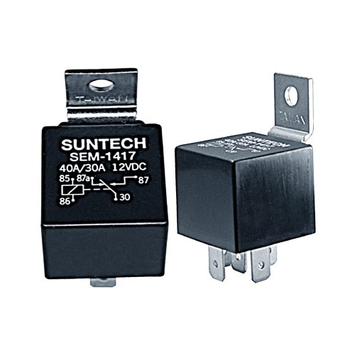 Suntech SEM-1417 SPDT 12 Volt 30/40 Amp Relay | SPDT - Lockdown Security