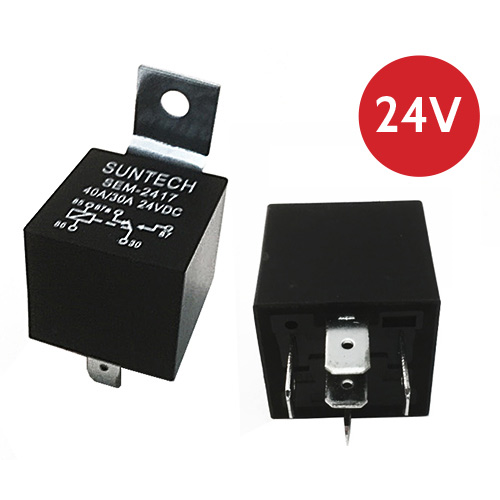 Suntech SEM-2417 SPDT 24 Volt 30/40 Amp Relay | SPDT - Lockdown Security