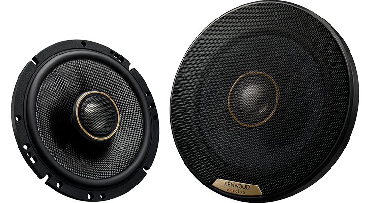 "Kenwood Excelon XR-1701 6.5"" Hi-Res Audio Certified Coaxial Speakers - Lockdown Security"