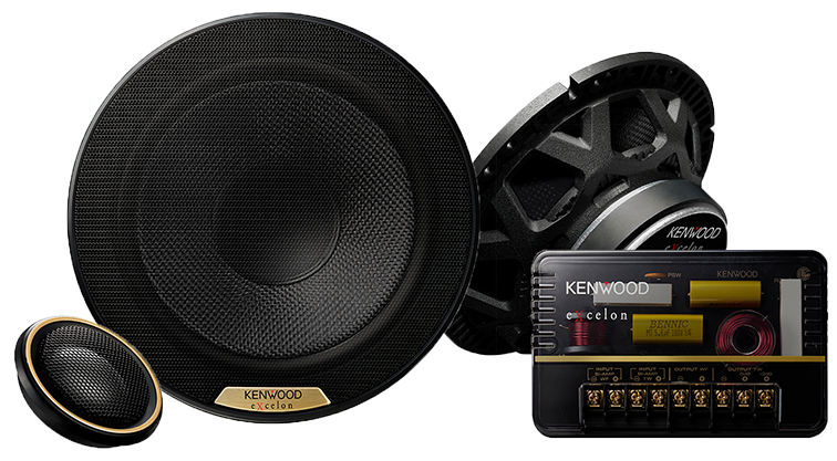 "Kenwood Excelon XR-1701P 6.5"" Hi-Res Audio Certified Component Speakers - Lockdown Security"