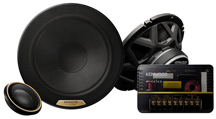 "Kenwood Excelon XR-1801P 7"" Oversized Hi-Res Audio Certified Component Speakers - Lockdown Security"