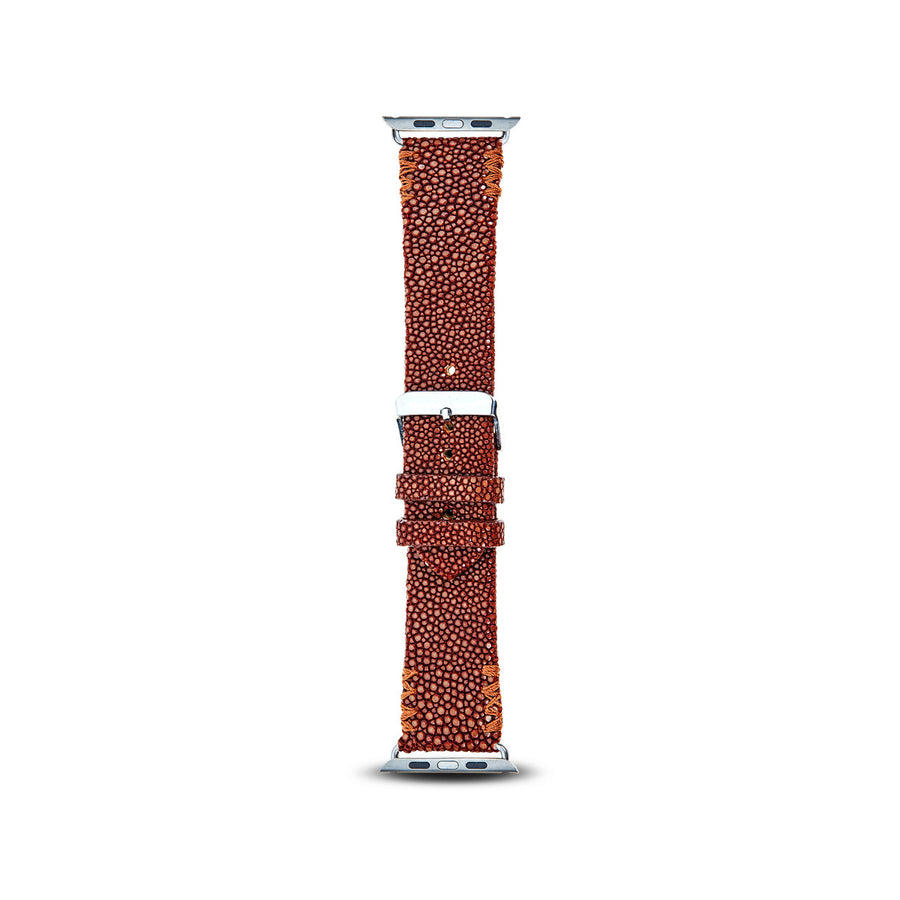 Cristina Sabatini: 4 Stitch Apple Watch Band in Caramel