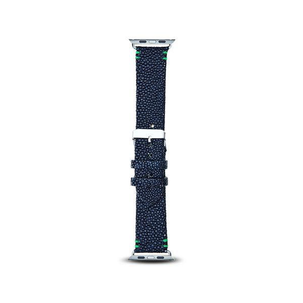 Cristina Sabatini: 2 Stitch Apple Watch Band in Black
