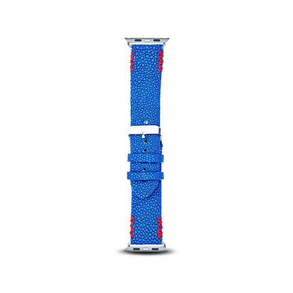 Cristina Sabatini: 4 Stitch Apple Watch Band in Sapphire