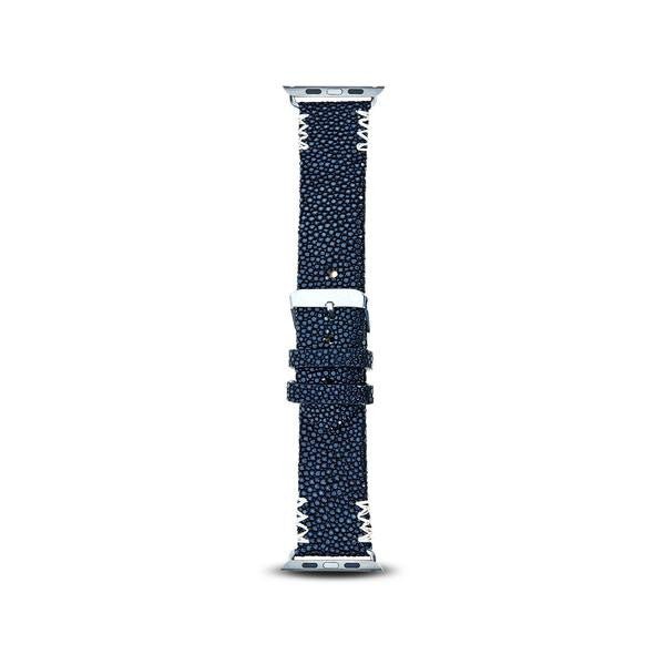 Cristina Sabatini: 4 Stitch Apple Watch Band in Noir