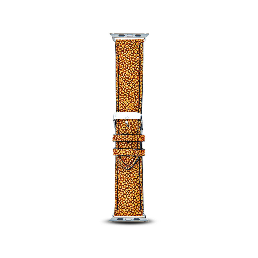 Cristina Sabatini: Full Stitch Apple Watch Band in Mustard
