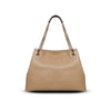 Lindsay Tote - Oat Pebble Leather Handbag by Cristina Sabatini