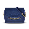 Large Scarlett Crossbody -  Military Blue Saffino Leather Handbag by Cristina Sabatini