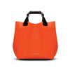 Kristen Tote - Tiger Orange Leather Handbag by Cristina Sabatini