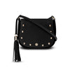 Indra Crossbody - Black Pebble Leather Handbag by Cristina Sabatini