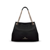 Lindsay Tote - Black Pebble Leather Handbag by Cristina Sabatini