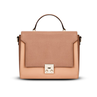 Cristina Sabatini: Cassandra Satchel in Blush/Peach