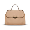 Accessories - Women's Handbags - Angelina Satchel in Khaki - Saffiano Leather Handbag by Cristina Sabatini Front Bag  View