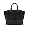 Women's Handbags- Black Alexandra Leather Tote Handbag by Cristina Sabatini