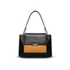 Cristina Sabatini: Lexie Satchel in Black & Saffron
