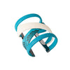Gladiator Cuff Bracelet - Silver - Turquoise Python Leather