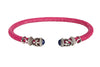 Rope Scroll Leather Choker Necklace - Fuchsia Stingray