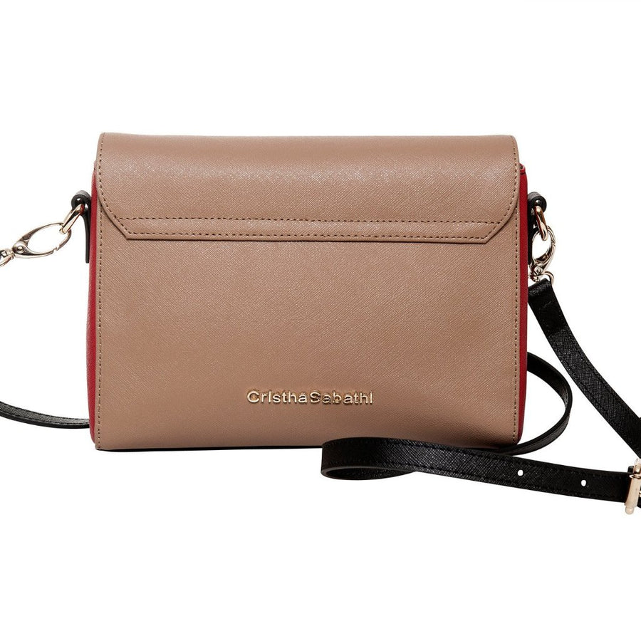 Accessories - Women's Handbag-  Amanda Crossbody - Rudy Red Saffiano Leather Handbag Full Product View