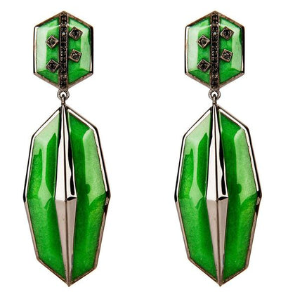 Cristina Sabatini: Serenata Earrings - Green