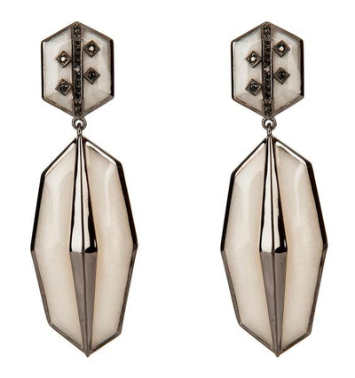 Cristina Sabatini: Serenata Earrings - Mother of Pearl