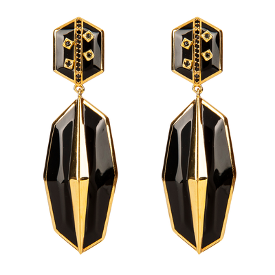 Cristina Sabatini: Serenata Earrings - Black