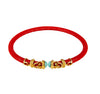 Rope Scroll Choker Necklace - Coral Stingray
