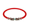 Rope Scroll Leather Choker Necklace - Coral Stingray