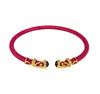 Rope Scroll Choker Necklace - Fuchsia Stingray