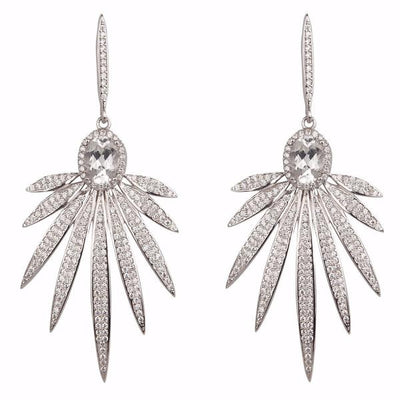 Cristina Sabatini: Apus Earrings - White Topaz