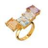 Women's Rings - Jewelry Cassio Ring - 18k Gold Plated -  Multi Gemstones
