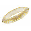 MP Edge Bangle Bracelet - 18K Gold Plated - Mother of Pearl Color