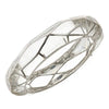MP Wall Bangle Bracelet - Rhodium Silver - Clear Color