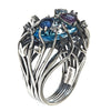 Jewelry Women's Rings - London Blue Topaz Iris Blossom Ring in Black Rhodium by Cristina Sabatini