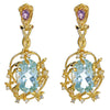 Iris Blossom Earrings - Blue Topaz