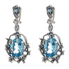 Iris Blossom Earrings - London Blue Topaz