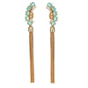 Lianas Earrings - Aqua - Gold Plated