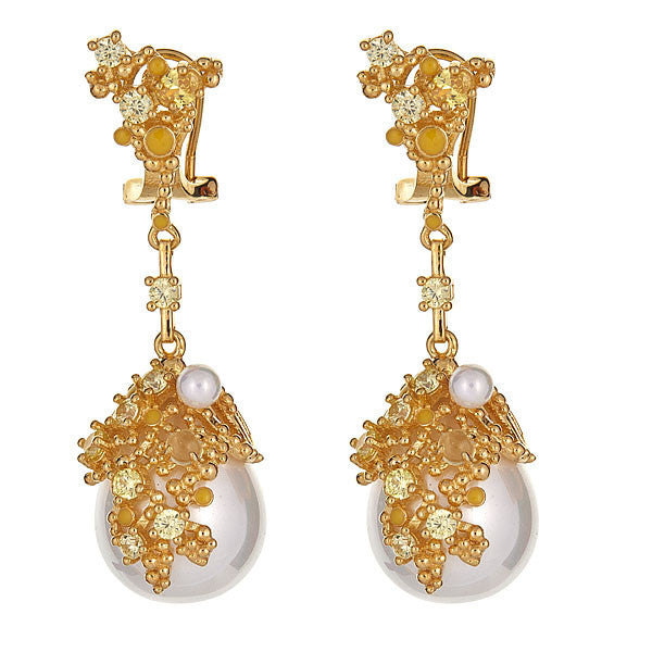 Dripstone Earrings - Gold Plated