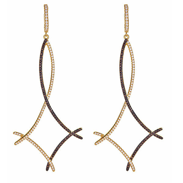 Twig Earrings - Gold Plated
