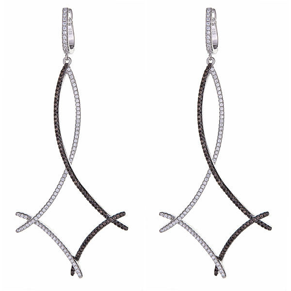Twig Earrings - Rhodium