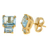 Lyra Earring - Blue Topaz with Gold Plated